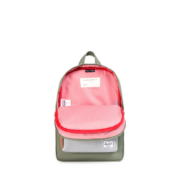 HERSCHEL SETTLEMENT KIDS BACKPACK IN DEEP LICHEN GREEN AND 3M  - 2