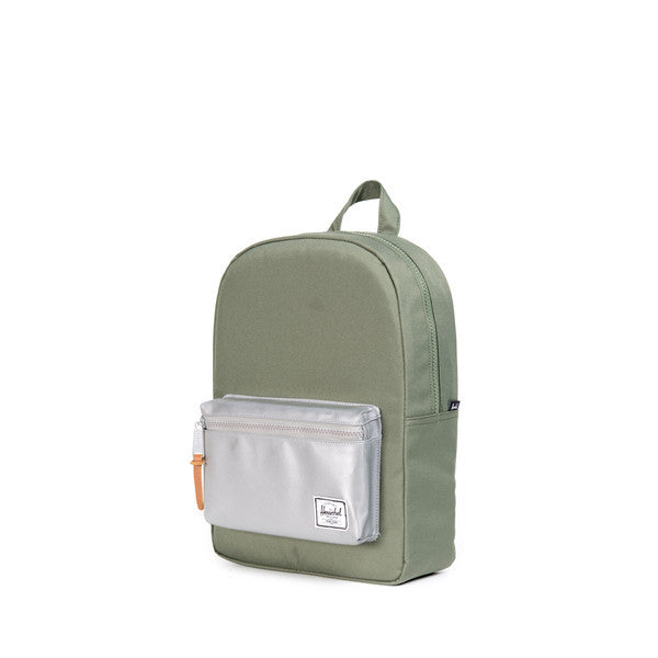 HERSCHEL SETTLEMENT KIDS BACKPACK IN DEEP LICHEN GREEN AND 3M  - 3