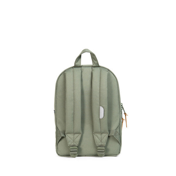 HERSCHEL SETTLEMENT KIDS BACKPACK IN DEEP LICHEN GREEN AND 3M  - 4