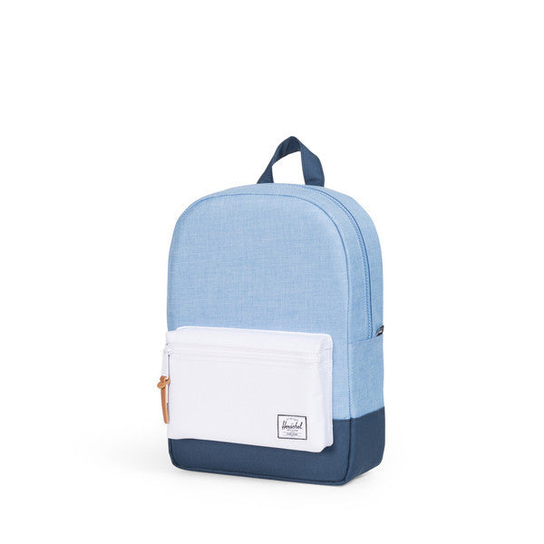 HERSCHEL HERITAGE KIDS BACKPACK IN CHAMBRAY NAVY AND WHITE  - 3