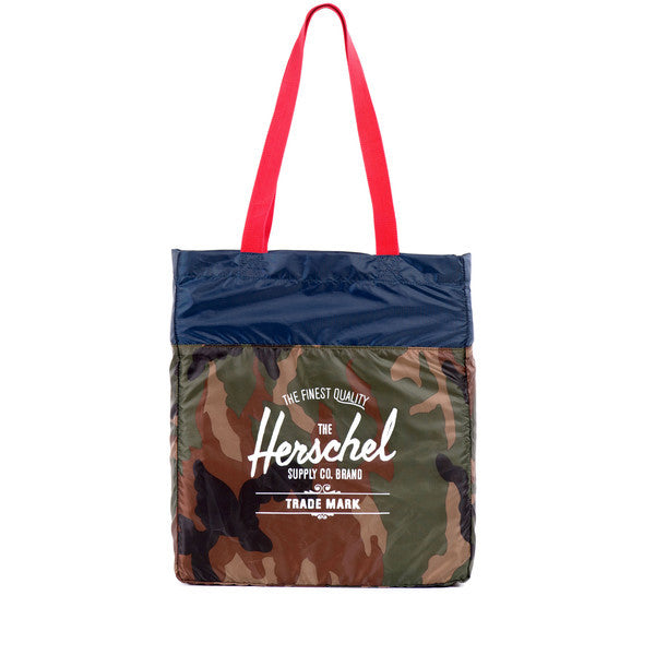 HERSCHEL PACKABLE TOTE IN WOODLAND CAMO  - 1