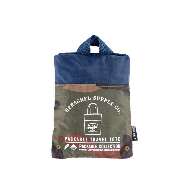 HERSCHEL PACKABLE TOTE IN WOODLAND CAMO  - 3