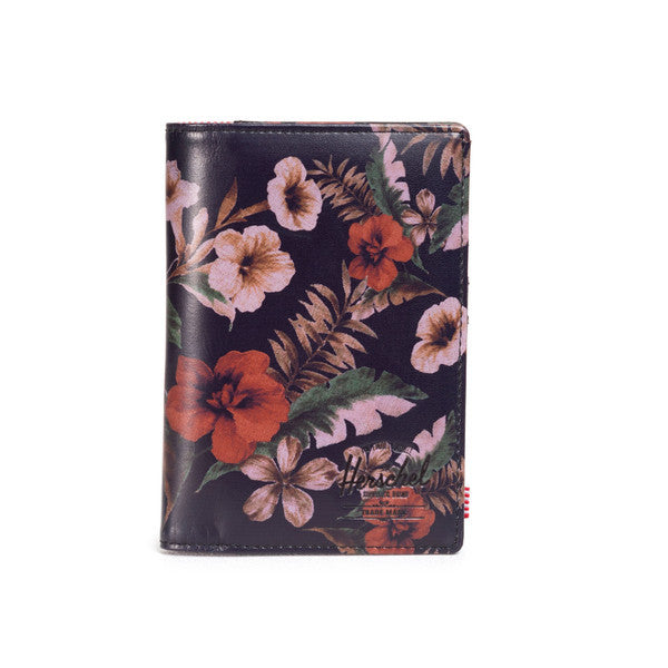 HERSCHEL RAYNOR PASSPORT HOLDER IN HAWAIIAN CAMO LEATHER  - 1
