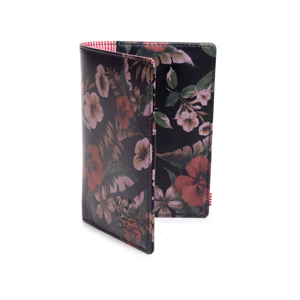 HERSCHEL RAYNOR PASSPORT HOLDER IN HAWAIIAN CAMO LEATHER  - 2
