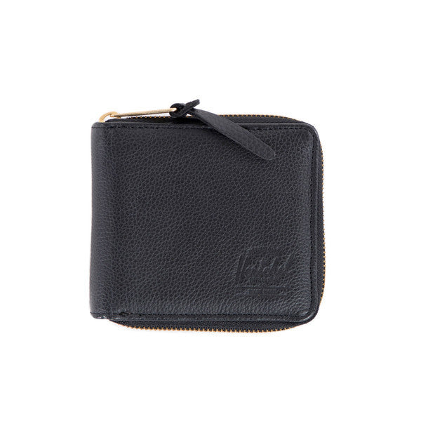 HERSCHEL WALT WALLET IN BLACK PEBBLED LEATHER  - 1