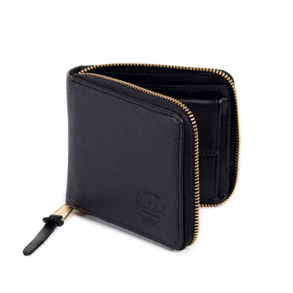 HERSCHEL WALT WALLET IN BLACK PEBBLED LEATHER  - 2