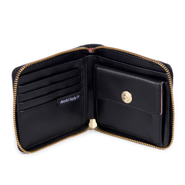HERSCHEL WALT WALLET IN BLACK PEBBLED LEATHER  - 3
