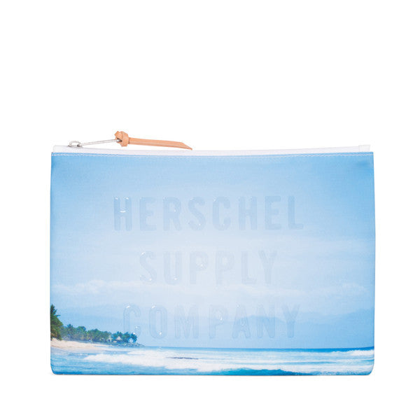 HERSCHEL NETWORK LARGE POUCH IN WAVE/SKY  - 1