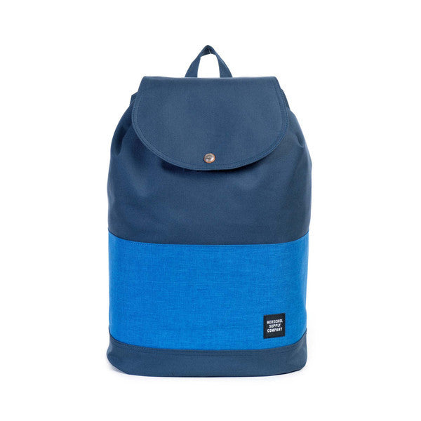 HERSCHEL REID BACKPACK IN NAVY AND COBALT CROSSHATCH  - 1