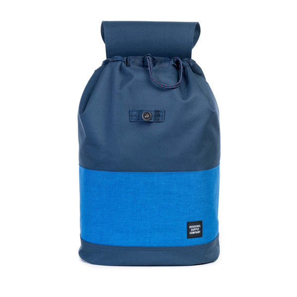 HERSCHEL REID BACKPACK IN NAVY AND COBALT CROSSHATCH  - 2