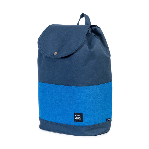 HERSCHEL REID BACKPACK IN NAVY AND COBALT CROSSHATCH  - 3