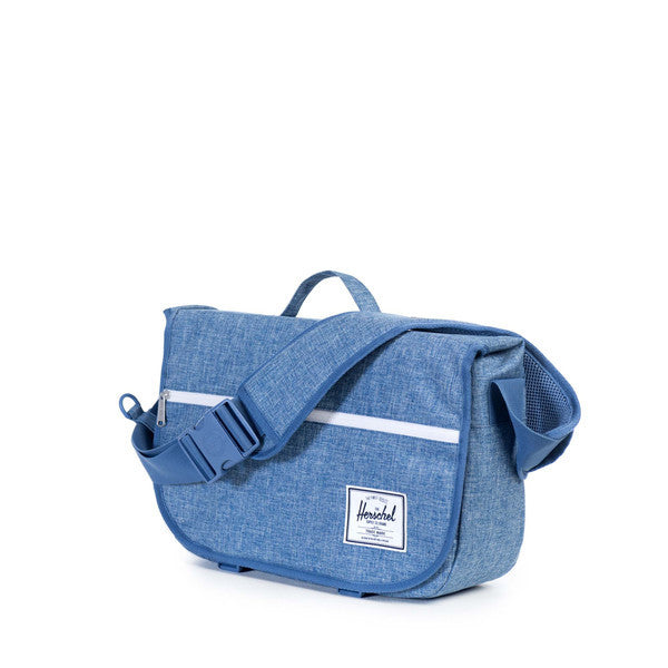 HERSCHEL POP QUIZ MESSENGER BAG IN LIMOGES CROSSHATCH  - 2