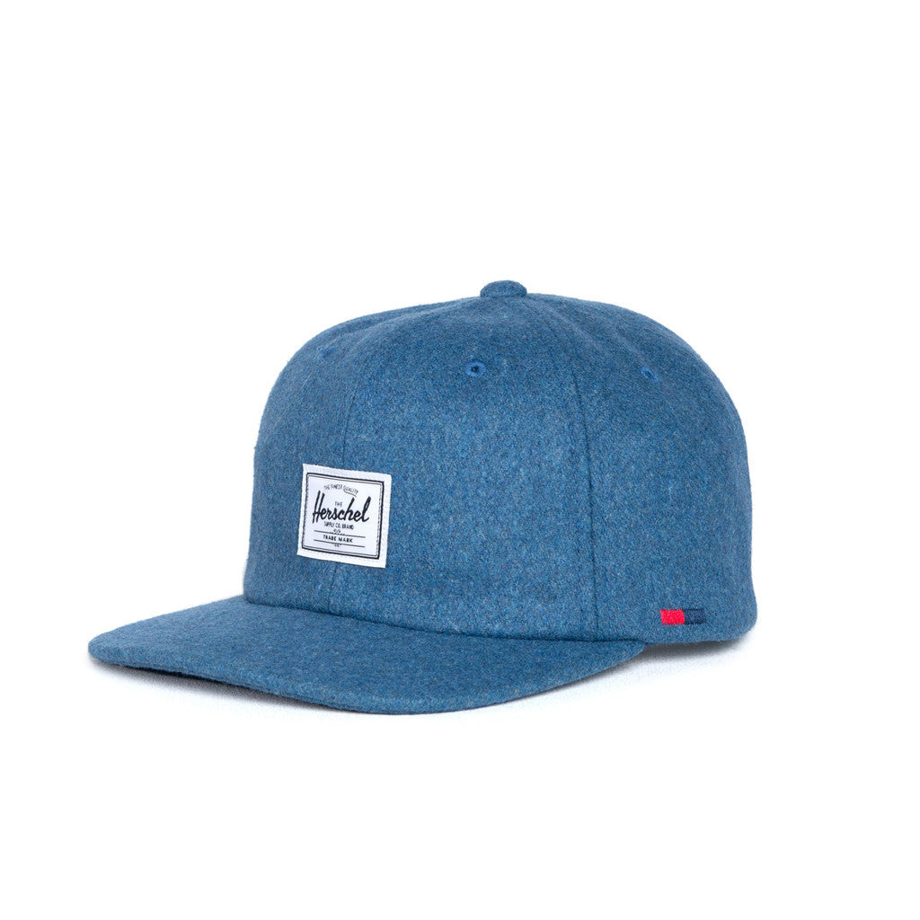 HERSCHEL SUPPLY CO. ALBERT CAP IN INK BLUE WOOL  - 1