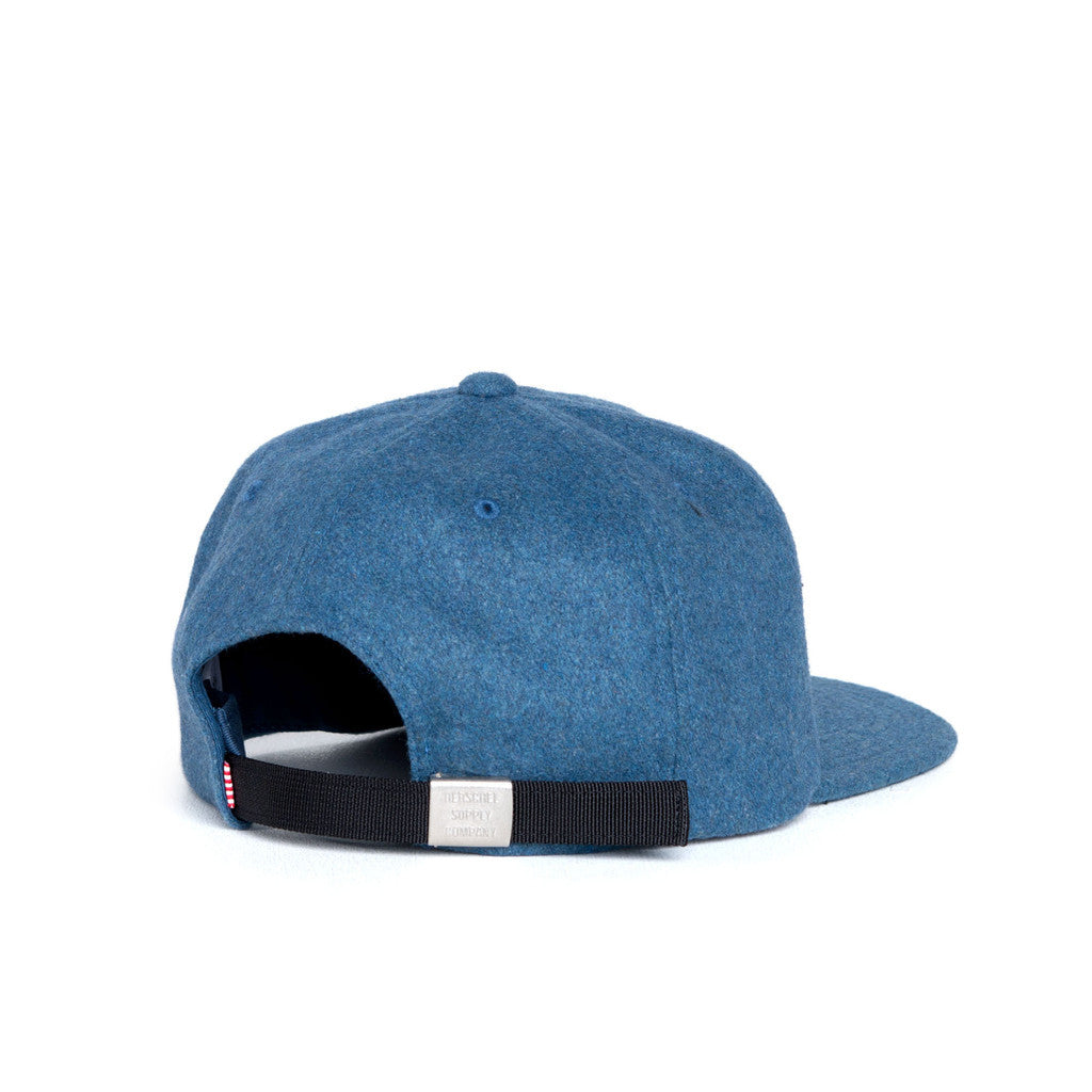 HERSCHEL SUPPLY CO. ALBERT CAP IN INK BLUE WOOL  - 2