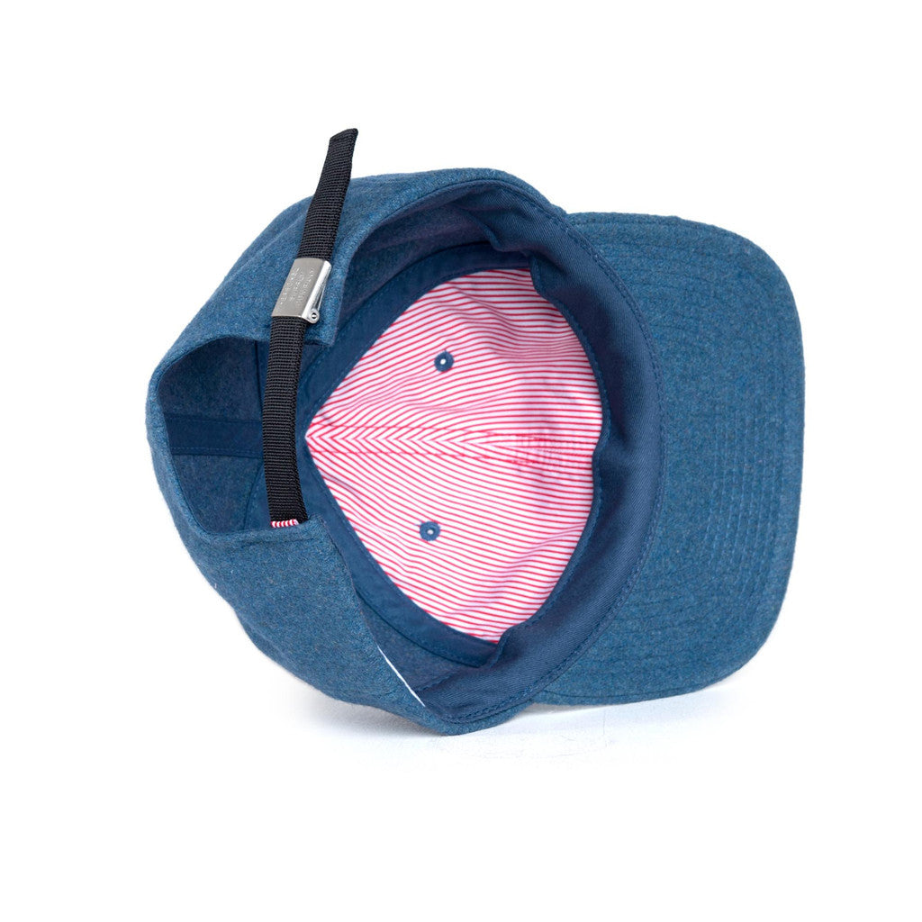 HERSCHEL SUPPLY CO. ALBERT CAP IN INK BLUE WOOL  - 3