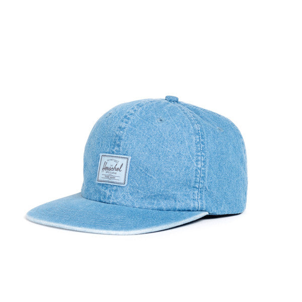 HERSCHEL ALBERT 6-PANEL CAP IN FADED DENIM  - 1