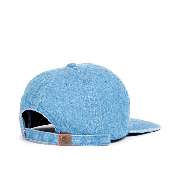 HERSCHEL ALBERT 6-PANEL CAP IN FADED DENIM  - 2