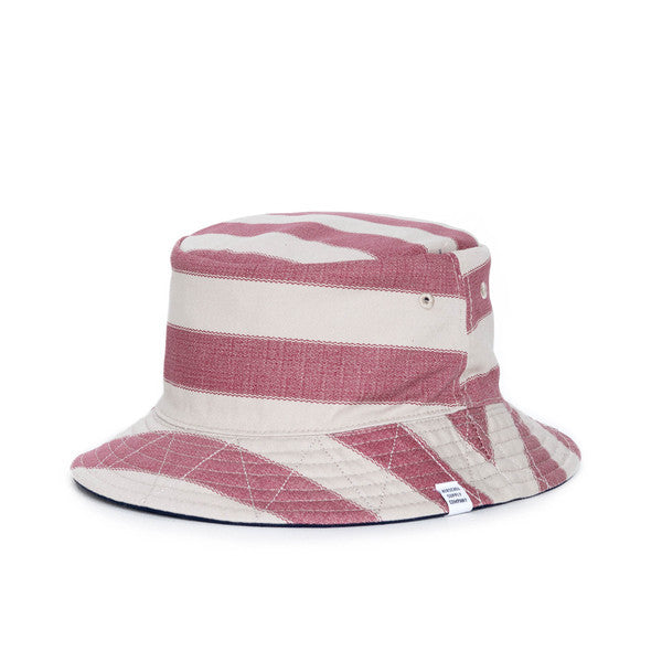 HERSCHEL LAKE BUCKET HAT IN NAVY AND NATURAL FOUTA  - 3