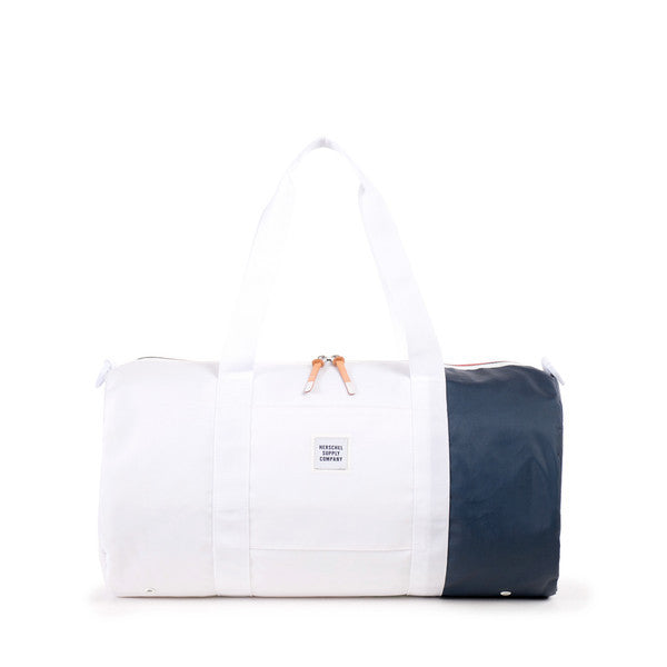 HERSCHEL SUTTON DUFFLE BAG IN WHITE AND NAVY POLYCOAT  - 1