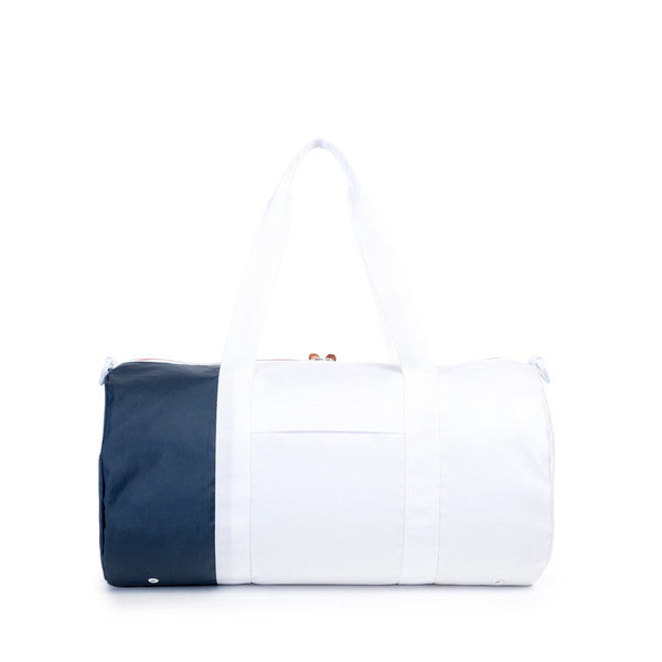 HERSCHEL SUTTON DUFFLE BAG IN WHITE AND NAVY POLYCOAT  - 3