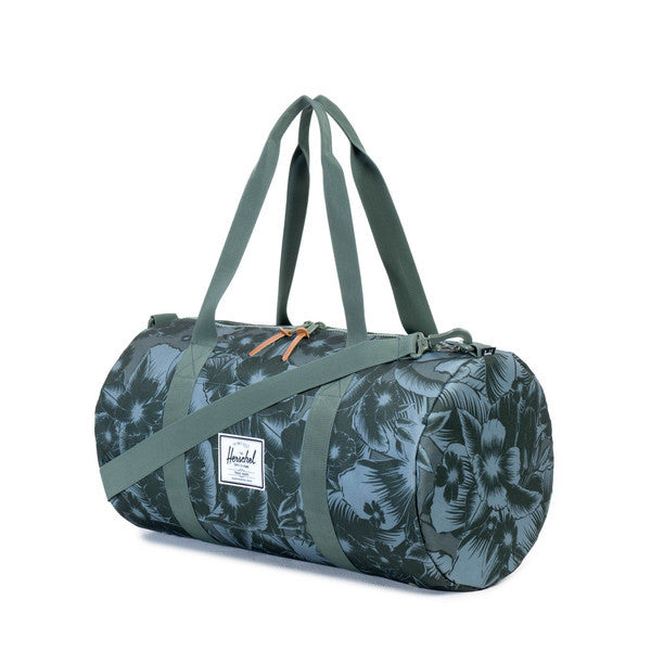HERSCHEL SUTTON MID-VOLUME DUFFLE IN JUNGLE FLORAL GREEN  - 2