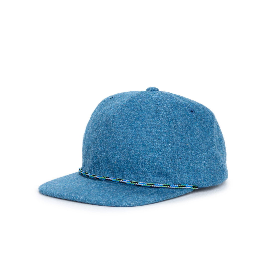HERSCHEL SUPPLY CO. CUSAK CAP IN INK BLUE WOOL  - 1