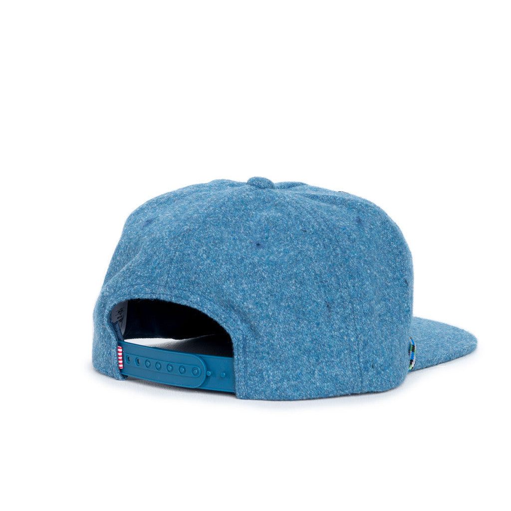 HERSCHEL SUPPLY CO. CUSAK CAP IN INK BLUE WOOL  - 2