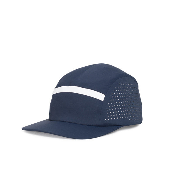 HERSCHEL GLENDALE PERFORATED 5-PANEL CAP IN NAVY  - 1
