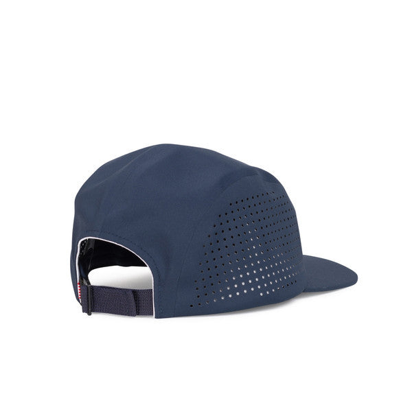 HERSCHEL GLENDALE PERFORATED 5-PANEL CAP IN NAVY  - 2