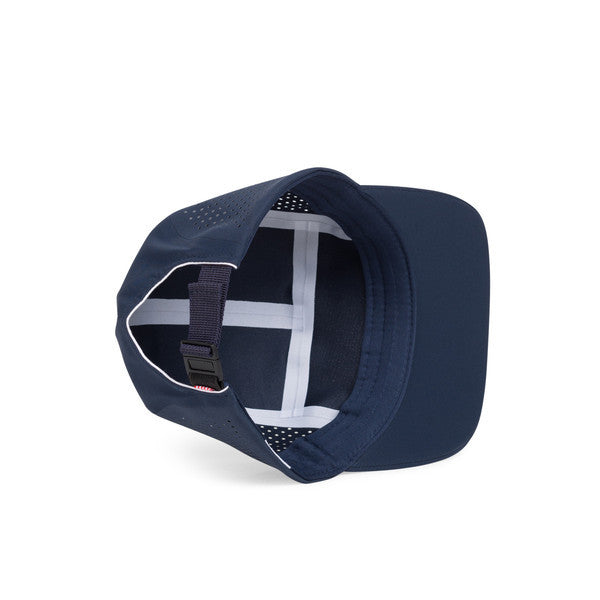 HERSCHEL GLENDALE PERFORATED 5-PANEL CAP IN NAVY  - 3