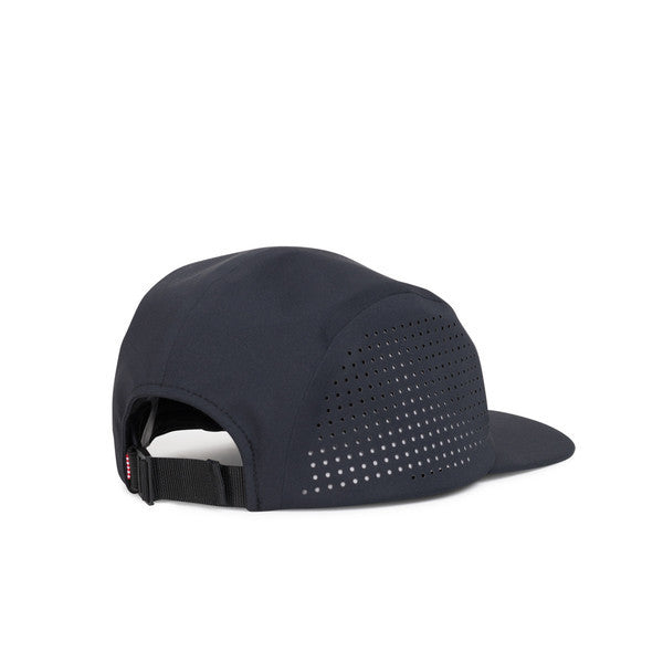 HERSCHEL GLENDALE PERFORATED 5-PANEL CAP IN BLACK  - 2