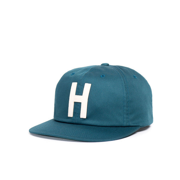 HERSCHEL HARWOOD 6-PANEL CAP IN LEGION BLUE