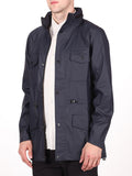 RAINS FOUR POCKET WATERPROOF JACKET IN NAVY  - 2
