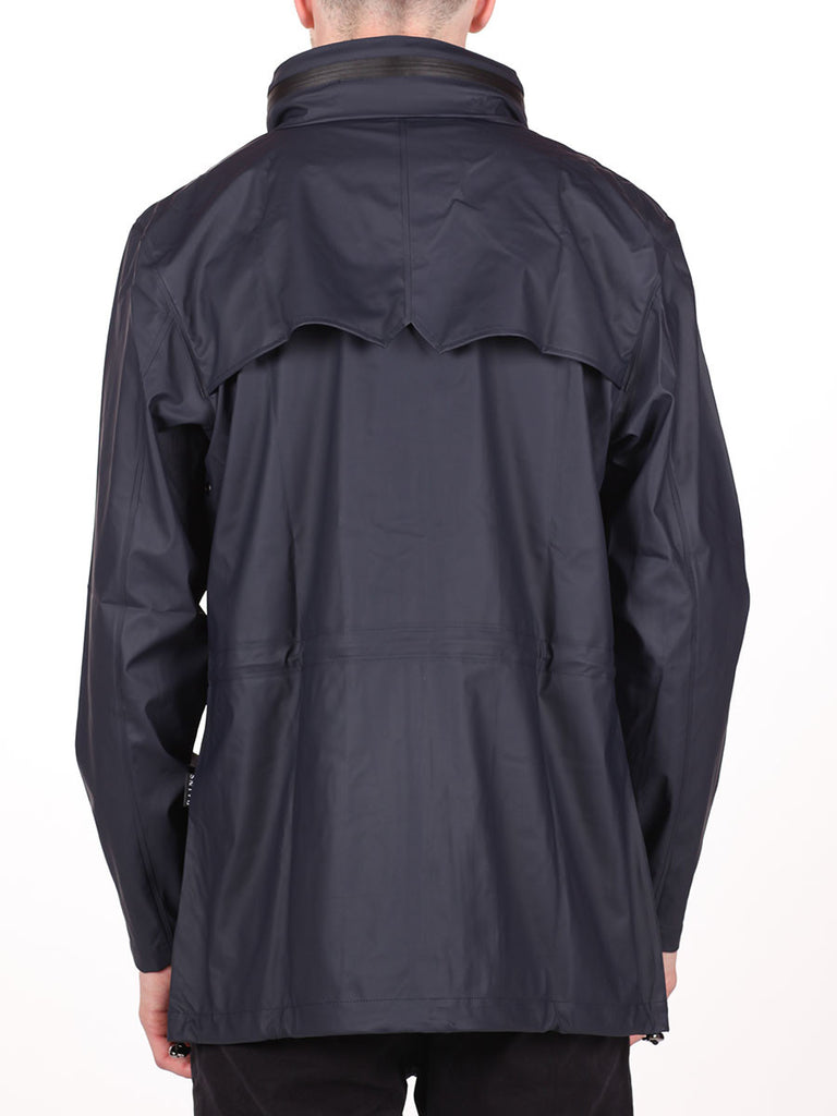 RAINS FOUR POCKET WATERPROOF JACKET IN NAVY  - 3