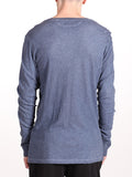BENSON X WORKSHOP V-NECK LONG-SLEEVE IN INDIGO  - 3