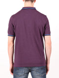 FRED PERRY SLIM FIT TWIN TIPPED SHIRT IN PURPLE  - 3