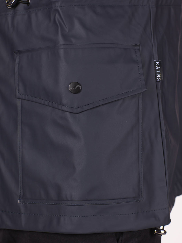 RAINS FOUR POCKET WATERPROOF JACKET IN NAVY  - 6