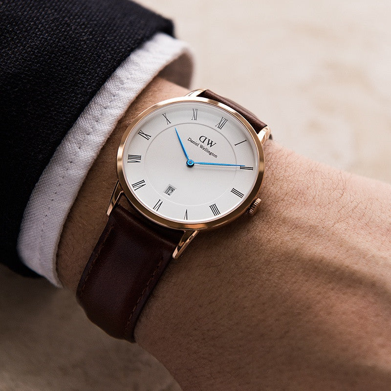 DANIEL WELLINGTON DAPPER ST MAWES WATCH WITH ROSE GOLD  - 2
