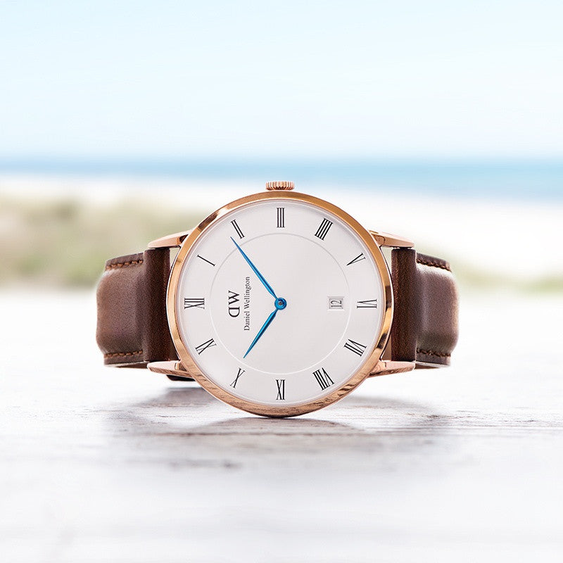 DANIEL WELLINGTON DAPPER ST MAWES WATCH WITH ROSE GOLD  - 3