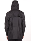 RAINS FOUR POCKET WATERPROOF JACKET IN BLACK  - 4