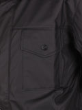 RAINS FOUR POCKET WATERPROOF JACKET IN BLACK  - 5