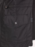 RAINS FOUR POCKET WATERPROOF JACKET IN BLACK  - 6