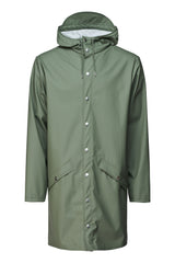 RAINS OLIVE GREEN LONG JACKET