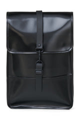 RAINS BACKPACK MINI IN SHINY BLACK