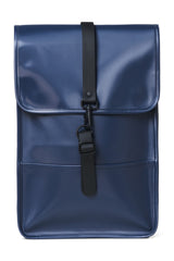 RAINS BACKPACK MINI IN SHINY BLUE