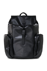 RAINS OVERSIZE RUCKACK IN SHINY BLACK
