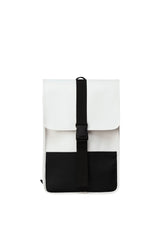 RAINS OFF WHITE BUCKLE BACKPACK MINI