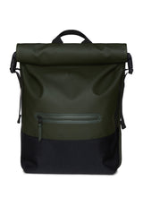 RAINS GREEN BUCKLE ROLLTOP RUCKSACK