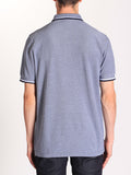 FRED PERRY TWIN TIPPED POLO SHIRT IN CARBON BLUE OXFORD  - 3