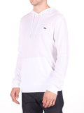 LACOSTE LIGHT-WEIGHT PULL-OVER HOODY IN WHITE  - 2